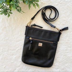 Kooba black leather crossbody bag